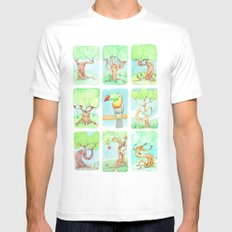Spring trees with toucan Mens Fitted Tee White MEDIUM