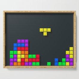 Tetris print design Serving Tray