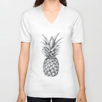 pineapple V-neck T-shirts featuring Pineapple by Sibling & Co.