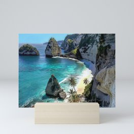 Turquoise Sea on Diamond Beach, Penida Island, Bali Mini Art Print
