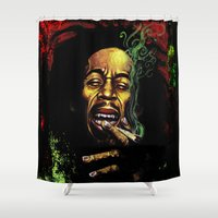 marley Shower Curtains featuring MARLEY - MARLEY by Raisya