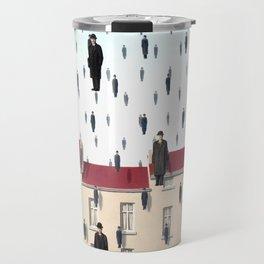 Magritte - Golconda 1953 - Artwork for Wall Art, Prints, Posters, Men, Women, Youth Travel Mug