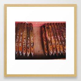 Weavers Tools, Inle, Burma Framed Art Print