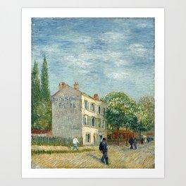 Restaurant Rispal at Asnieres by Vincent van Gogh Art Print