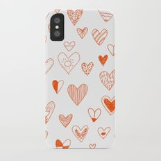 fun hearts Slim Case iPhone X