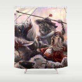 Miguel Dog Cervantes Shower Curtain