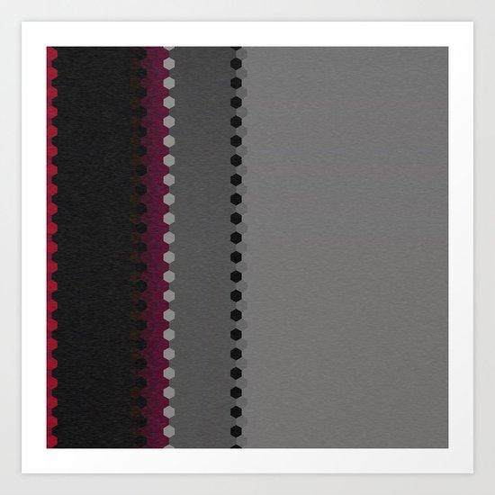 Modern Burgundy Grey Black Stripe Dot Pattern by artaddiction45