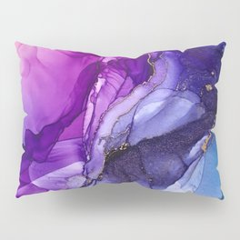 Abstract Vibrant Rainbow Ombre Pillow Sham