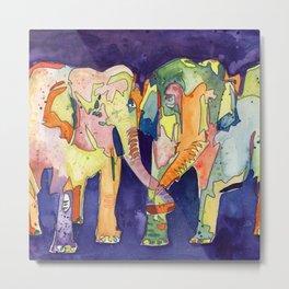 Big Elephant Love Metal Print