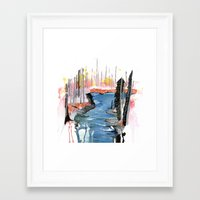 river Framed Art Prints featuring River by Halfmoon Industries