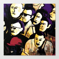 faces Canvas Prints featuring Faces by Helen Syron