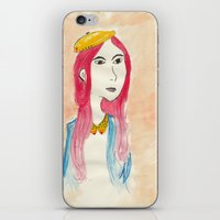 lip iPhone & iPod Skins featuring Fake Lip by Adlina Khairana
