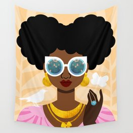 Afro Puffs Wall Tapestry