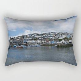 Brixham The Colourful Harbour Rectangular Pillow