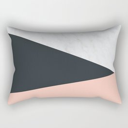 Marble, dark navy Rectangular Pillow