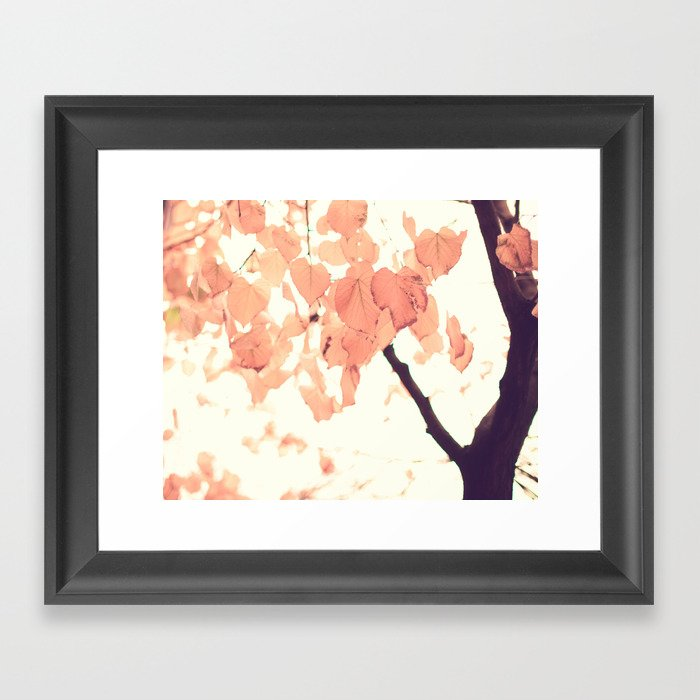 Pink autumn Framed Art Print