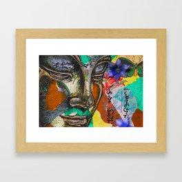 Gazing Buddha Framed Art Print