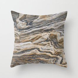 Marble Waves Throw Pillow
