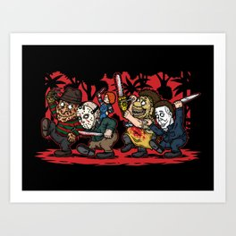 Where the Slashers Are (Full Color) Art Print