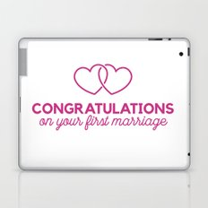 Congratulations on your first marraige Laptop & iPad Skin
