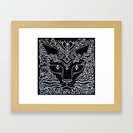 magic and cat Framed Art Print