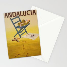Vintage poster - Andalucia, Spain Stationery Cards