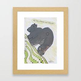 Dream bear Framed Art Print