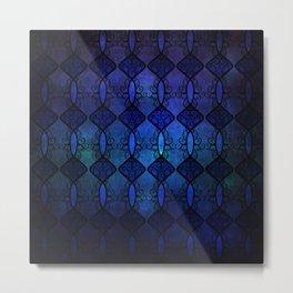 Sapphire Glass Metal Print
