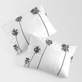 Black + White Palms Pillow Sham
