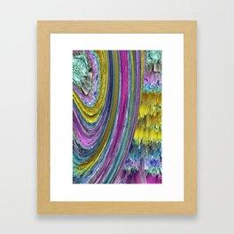 rainbow wall Framed Art Print