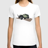 jeep T-shirts featuring JEEP by LEIGH ANNE BRADER
