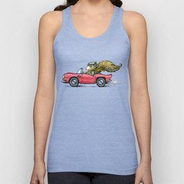 Driver Squirrel Unisex Tank Top