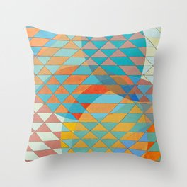 Triangle Pattern No. 11 Circles Throw Pillow