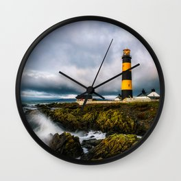 St. John's Point Lighthouse - Print  County Down, Northern Ireland.(RR 265) Wall Clock