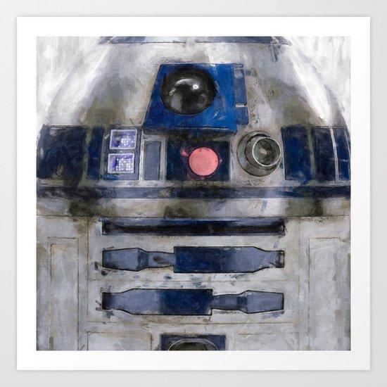 R2D2 Droid Robot StarWars Art Print
