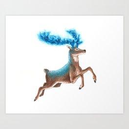 Cosmic Stag Art Print