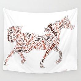 Arabian Horse Words Wall Tapestry