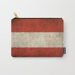 Old and Worn Distressed Vintage Flag of Austria Carry-All Pouch