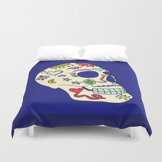 Sugar Skull Side Duvet Cover