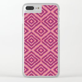 Sumatra in Pink Clear iPhone Case