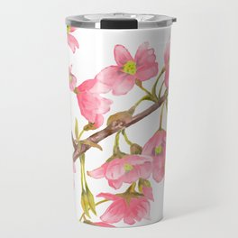 Watercolor Spring Tree Branche Travel Mug
