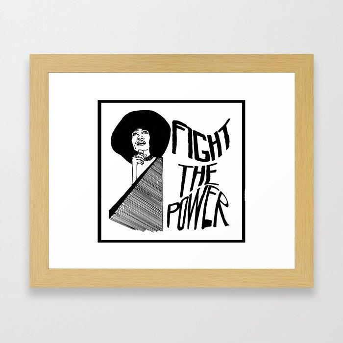Fight the Power: Angela Davis Framed Art Print