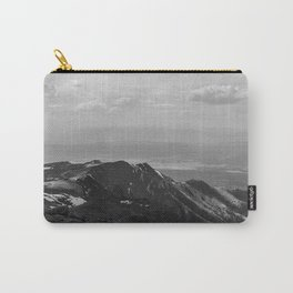 Pikes Peak, Colorado - Black and White Carry-All Pouch