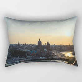 Amsterdam at Sunset Rectangular Pillow