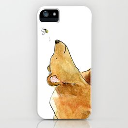 Bear & Bee Watercolor iPhone Case