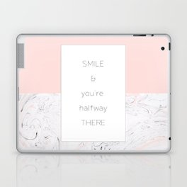 Smile and you're halfway there Laptop & iPad Skin