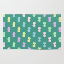 A Lot of Cats G/Y/P/B Rug