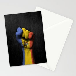 Moldovan Flag on a Raised Clenched Fist Stationery Cards