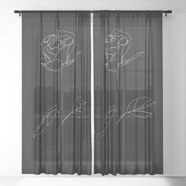White Rose Sheer Curtain