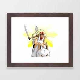 Andrea Bonifacio: San (Princess Mononoke) x Bonifacio x Gabriela Silang Framed Art Print